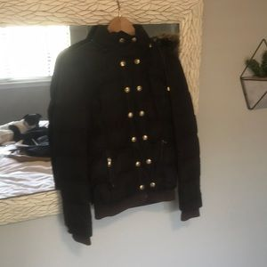 Juicy Couture Petite Brown Puffer Jacket